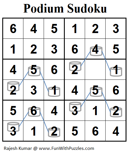 Podium Sudoku (Mini Sudoku Series #78) Solution