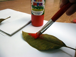 painting leaf super tempera