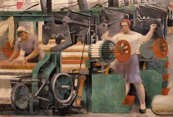 "Alexander Samochwalow - ""Textilfabrik"", 1929."