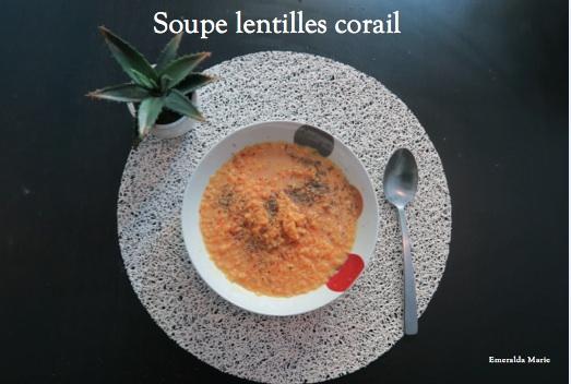 Recette Soupe De Lentilles Corail Express