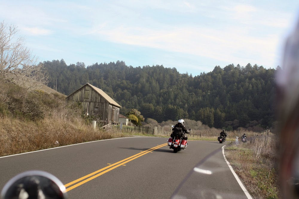 motorcycle road russian river