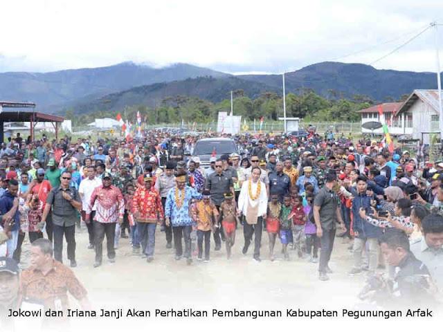 Jokowi dan Iriana Janji Akan Perhatikan Pembangunan Kabupaten Pegunungan Arfak