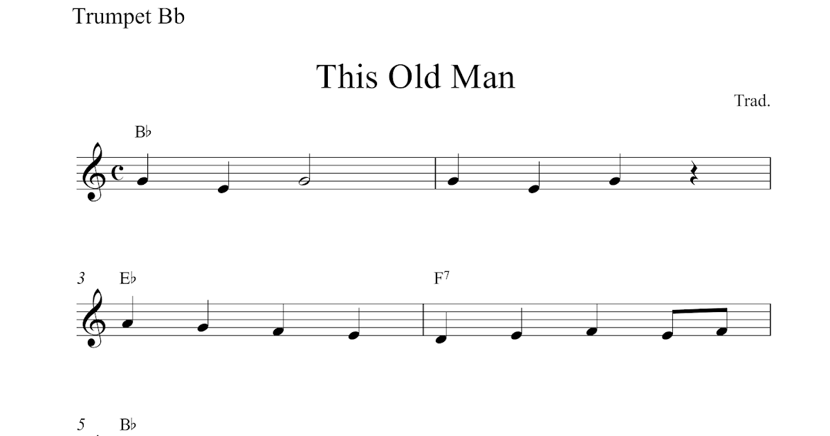 Free trumpet sheet music | This Old Man