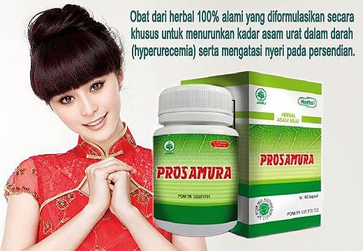 Prosamura Obat herbal 100% untuk menurunkan kadar asam urat dalam darah serta mengatasi nyeri sendi.