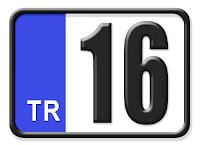 16 Bursa plaka kodu