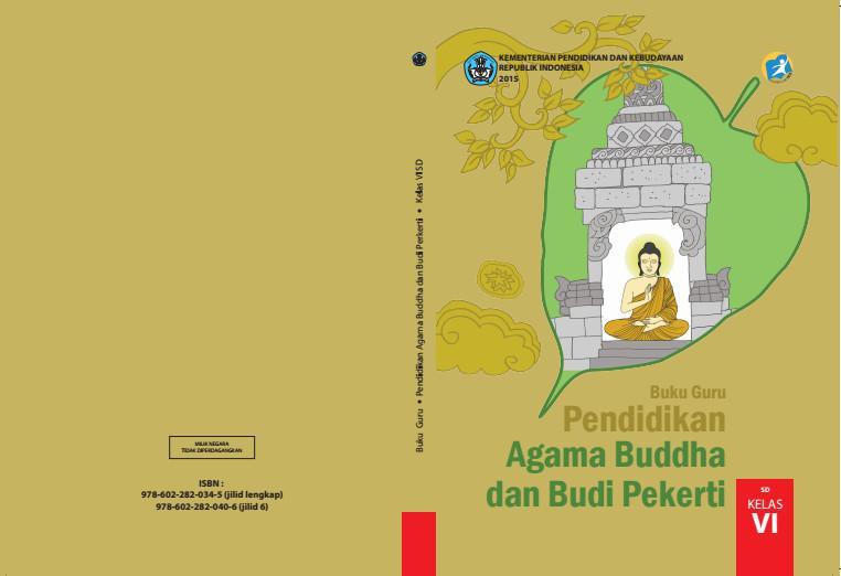Download Gratis Buku Guru Pendidikan Agama Budha Dan Budi Pekerti Kelas 6 SD Kurikulum 2013 Format PDF