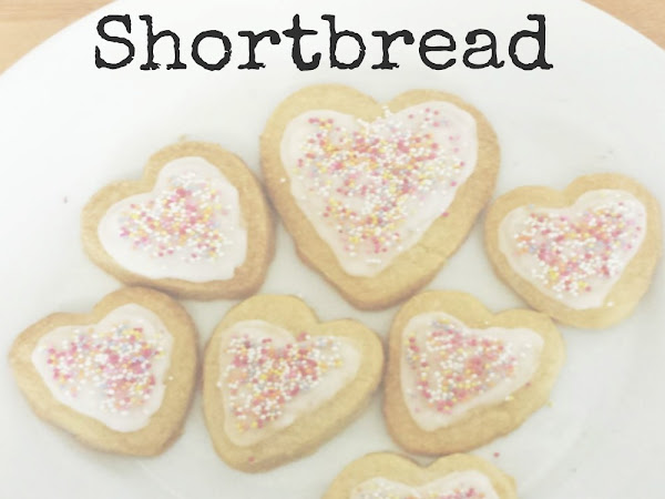 DIY Heart Shaped Shortbread Biscuits {Kids Craft}