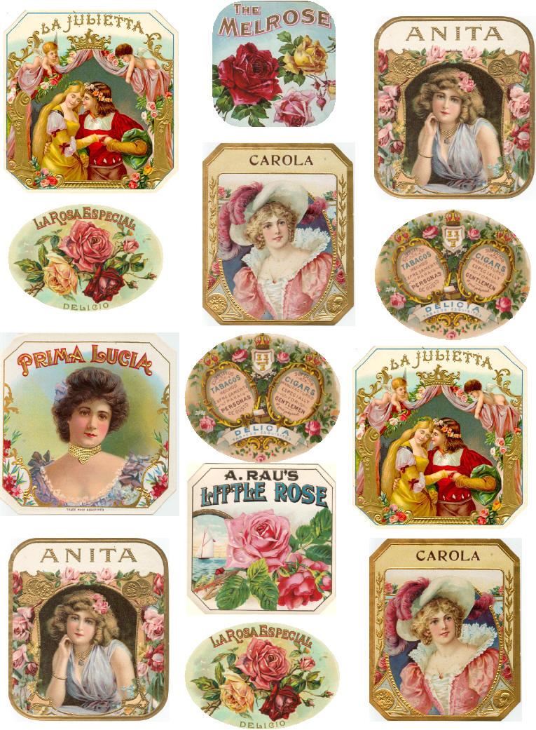 Antiques Atlas - Art Nouveau European Perfum Labels ...