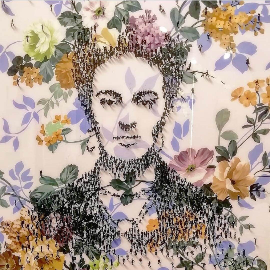 06-Frida-Kahlo-Craig-Alan-Portraits-Created-with-Paintings-of-People-www-designstack-co