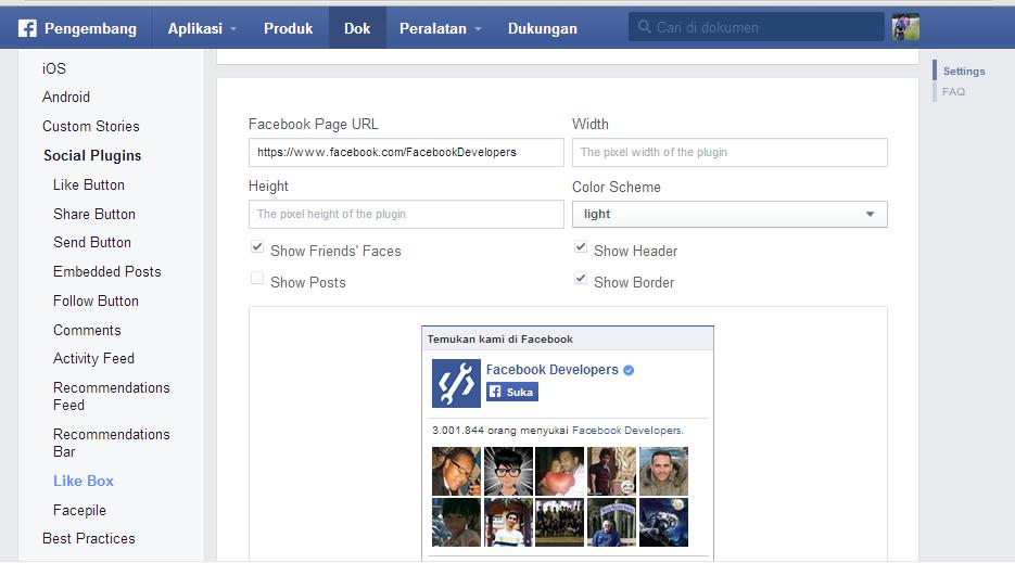 cara memasang fanspage di website, cara memasang fanspage fb di blog.