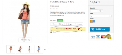 Set your price alert with PrestaShop Price Alert Module | Knowband