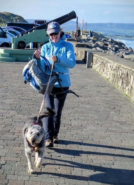Auriel Robinson and Zara the Dob from Seatrails.ie in County Sligo, Ireland