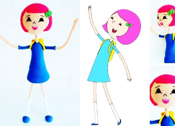 amigurimi, muñeca, dolls, ibi tejida, tutoriales, crochet