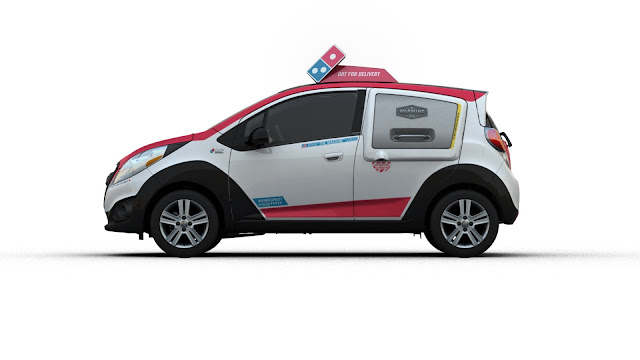 Domino's New Delivery Car is a 2015 Chevy Spark