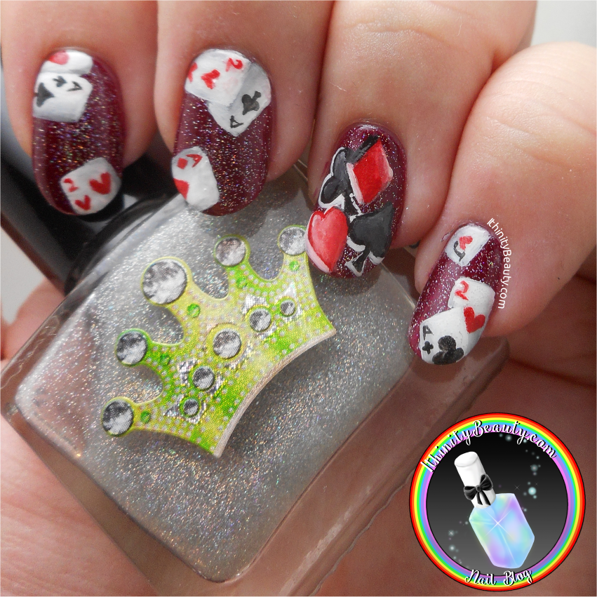 Freehand Skull Joker & Playing Card Nails   IthinityBeauty.com Nail ...