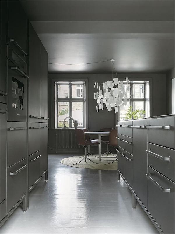 La casa de la cocina gris y el suelo blanco the house - Cocina suelo gris ...