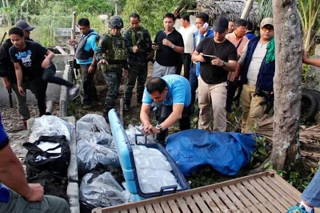 180 Kilo ng Shabu, Natagpuang Nakalibing sa Isang Bakuran