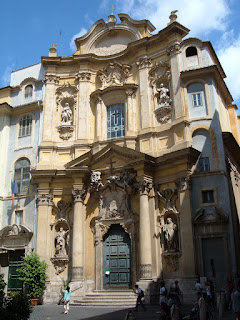 The church of St Mary Magdalene in Rome
