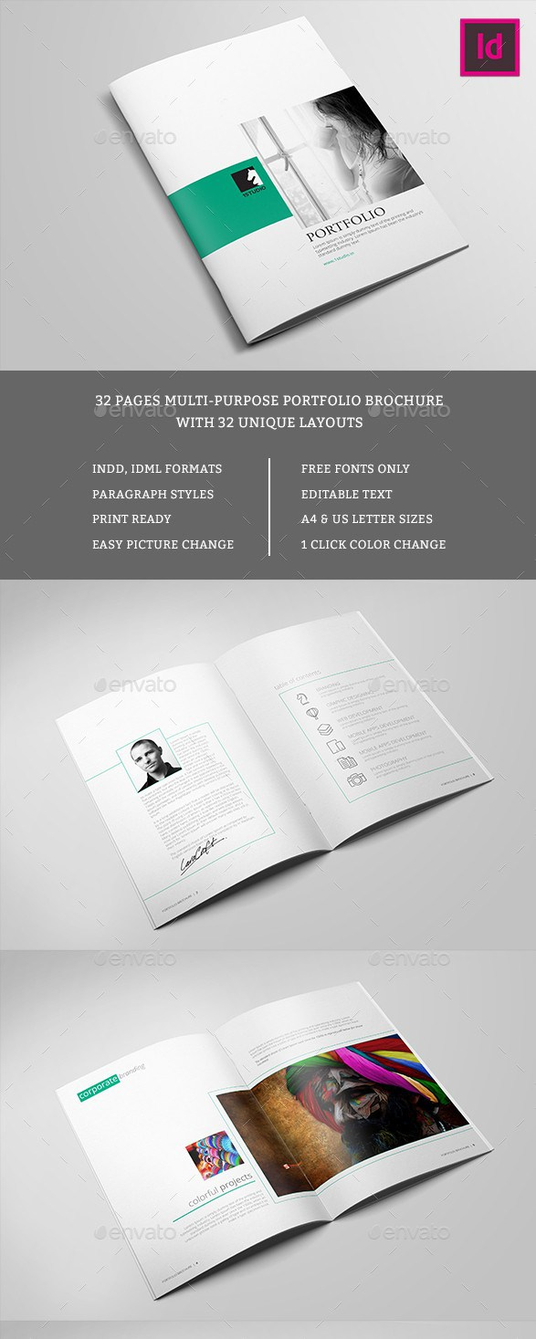Free Premium Brochure Templates Photoshop PSD InDesign AI - Brochure template indesign