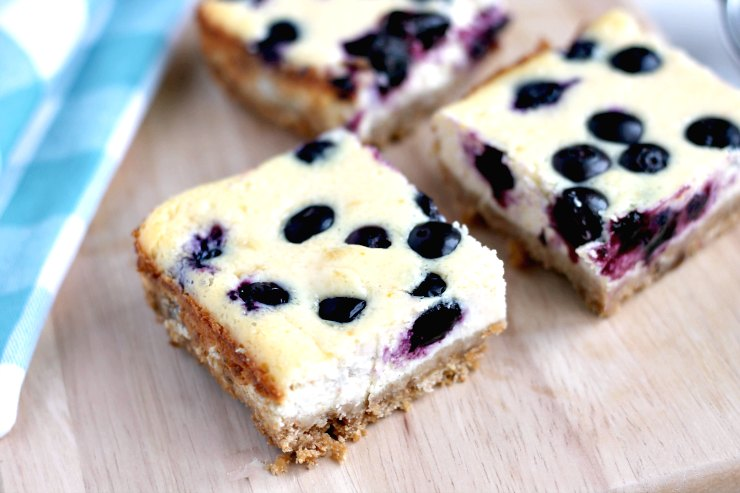 Blueberry Orange Cheesecake Bars (+ our family holiday to Tenerife)