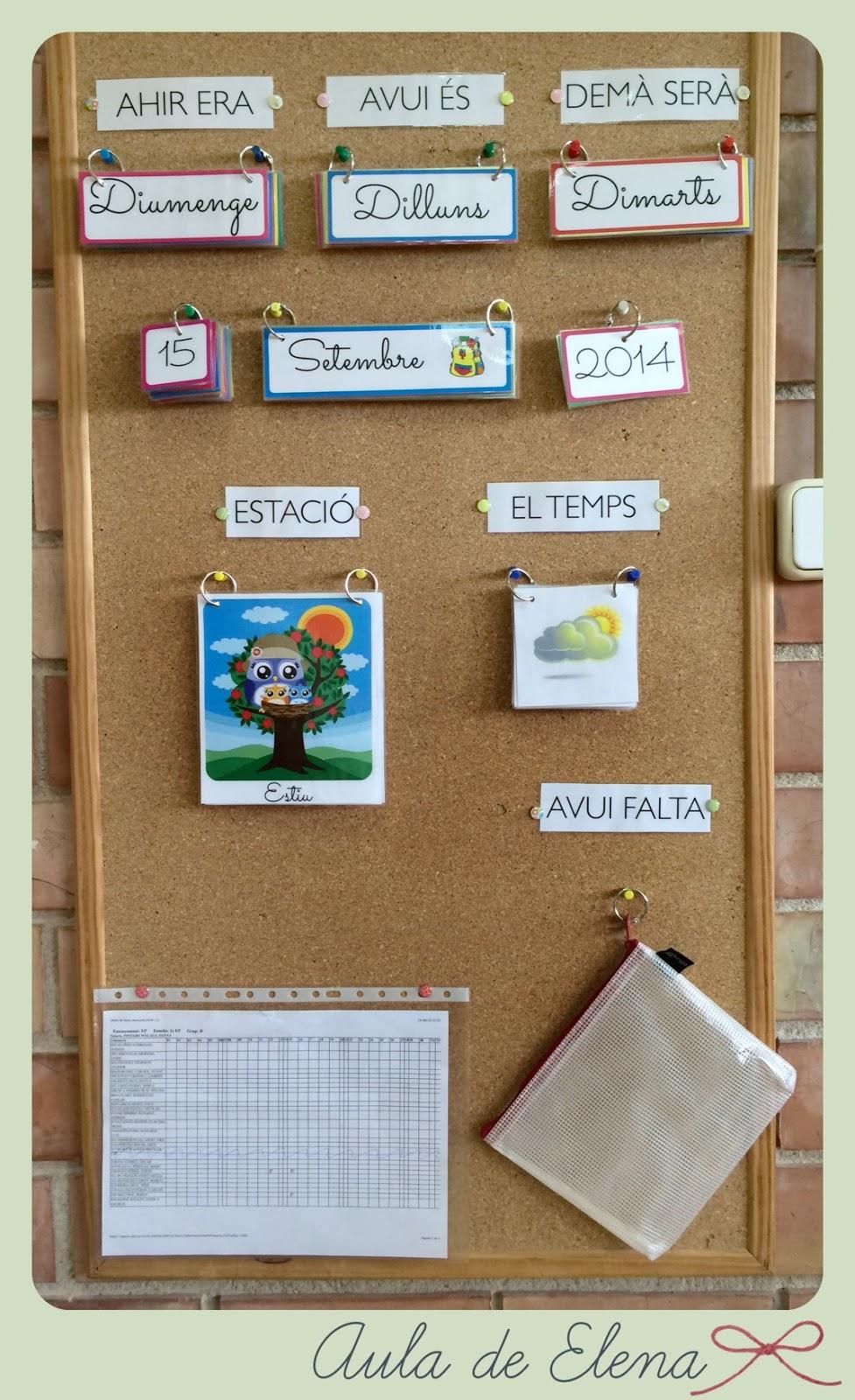 Calendario para el aula aula de elena for Actividades para el salon de clases de primaria