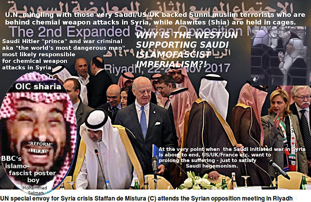 UN with muslim terrorists in Riyadh, Saudi Arabia