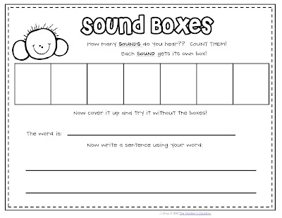 Classroom freebies sound mapping for Elkonin boxes template