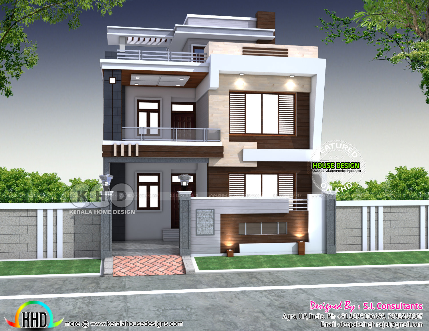 28x 60 Modern Indian House Plan Kerala Home Design And
