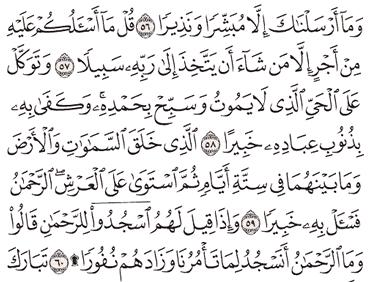 Tafsir Surat Al-Furqan Ayat 56, 57, 58, 59, 60