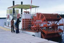 Jenis Kapal Menurut Bahan dan Alat Penggeraknya, kapal paddle wheel