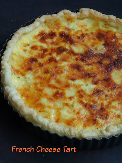 French 3 cheeses tart
