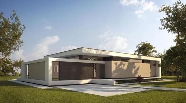 Plano de casa minimalista con ambientes abiertos planos for Casa minimalista 120m2