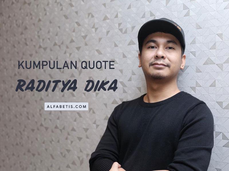 Kata-kata dan Kutipan Raditya Dika Untuk Caption