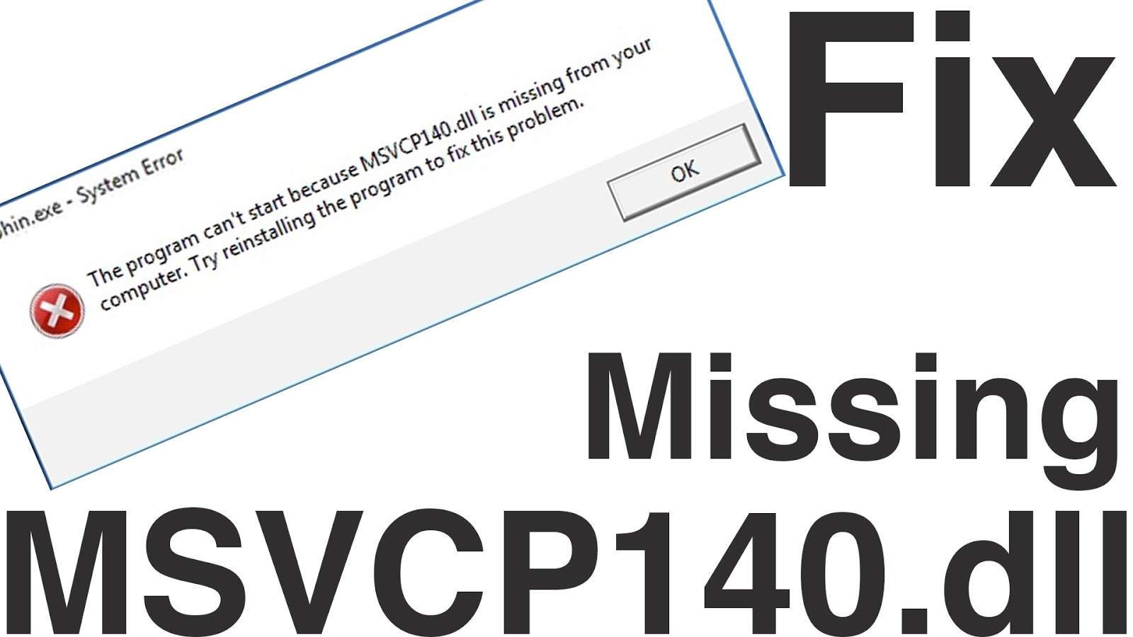 msvcp140.dll missing dolphin