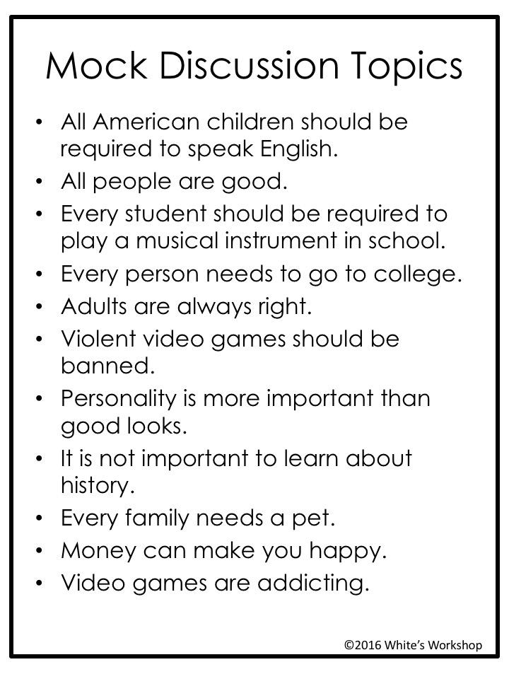 debate topics for adults
