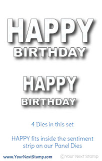 Bold Happy Birthday Word Die Set