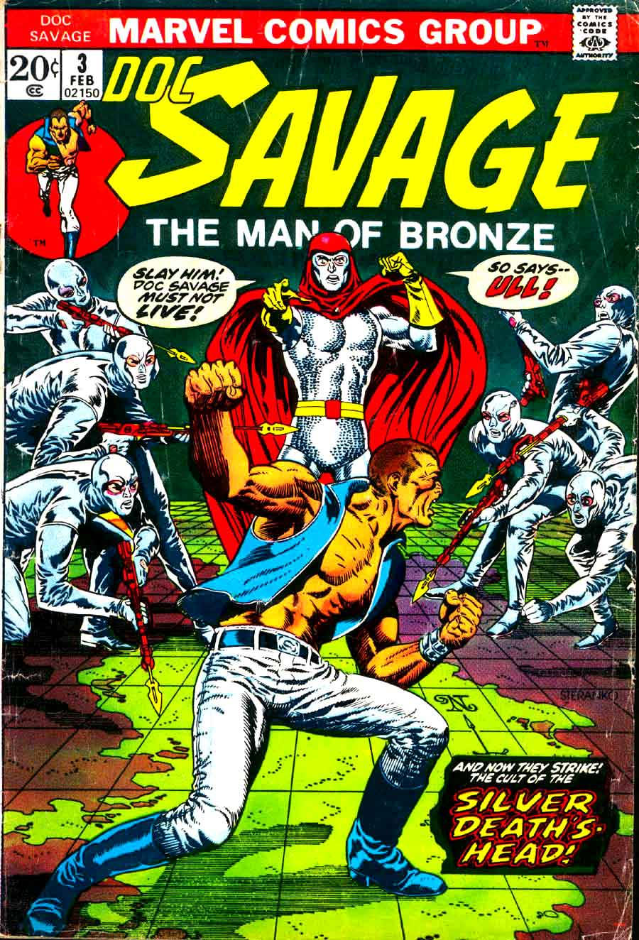 Doc Savage v2 #3 marvel bronze age comic book cover art by Jim Steranko