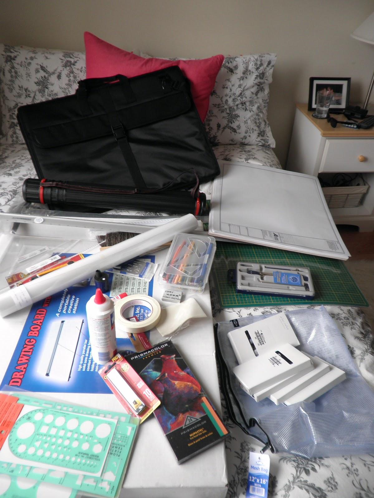 Interior design school supplies - Materials needed for interior design ...