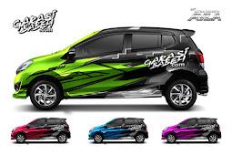 New Daihatsu Ayla Decal Sticker Consept - Speed Colour