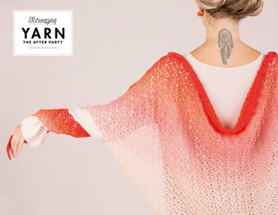 Crochet pattern Scheepjes Whirl, Dream Cather Shawl by Scheepjes | Happy in Red