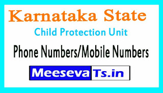 District Child Protection Unit (DCPU)Phone Numbers/Mobile Numbers in Karnataka State