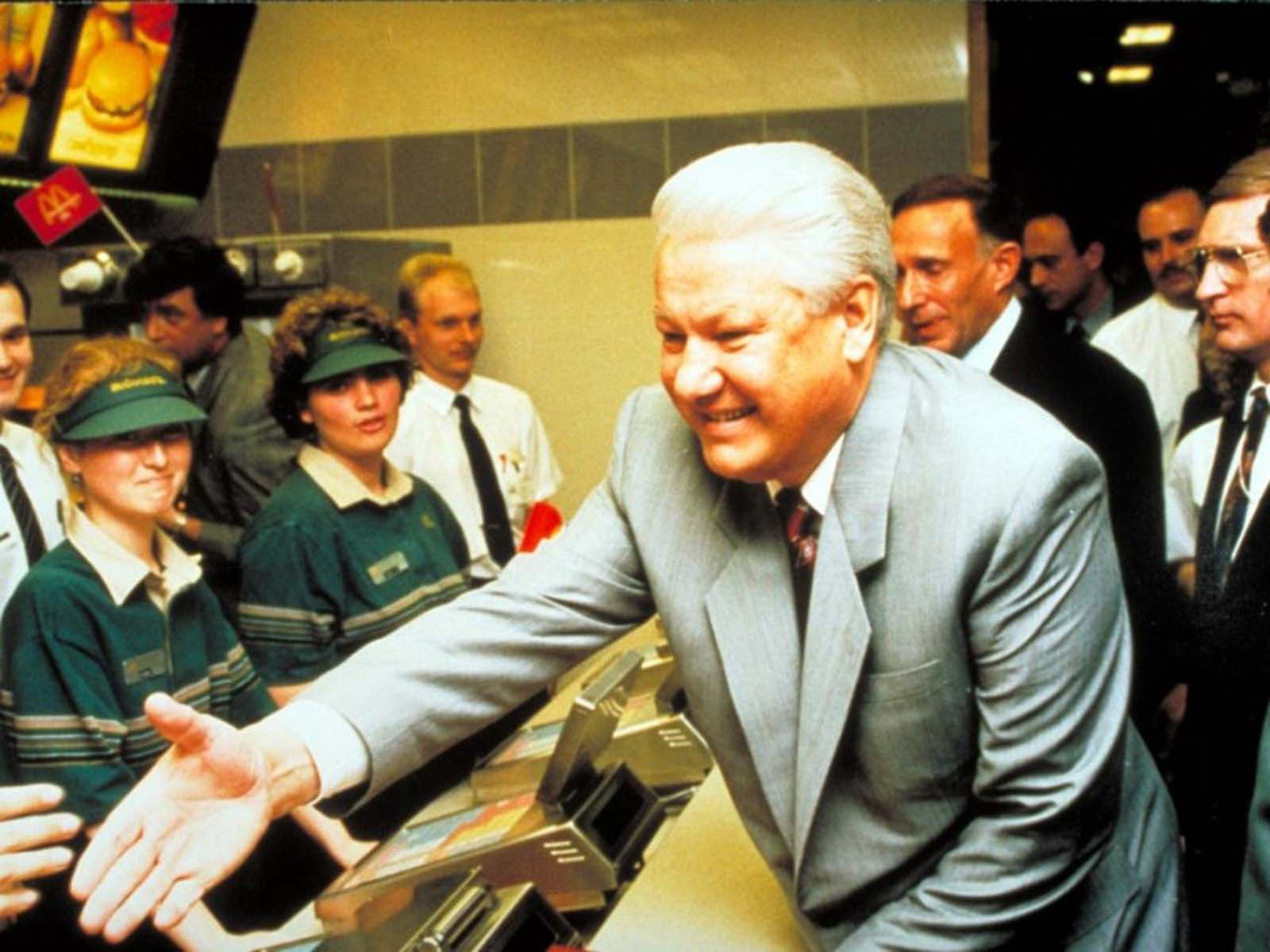 The opening ceremony of the second restaurant in 1993 was even attended by President Boris Yeltsin.
