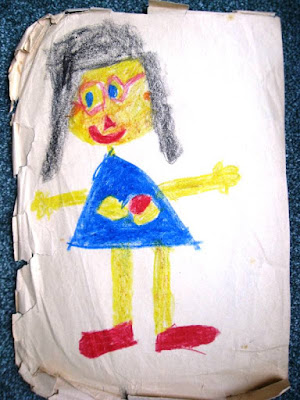 Self portrait by 6 year old speccy swot