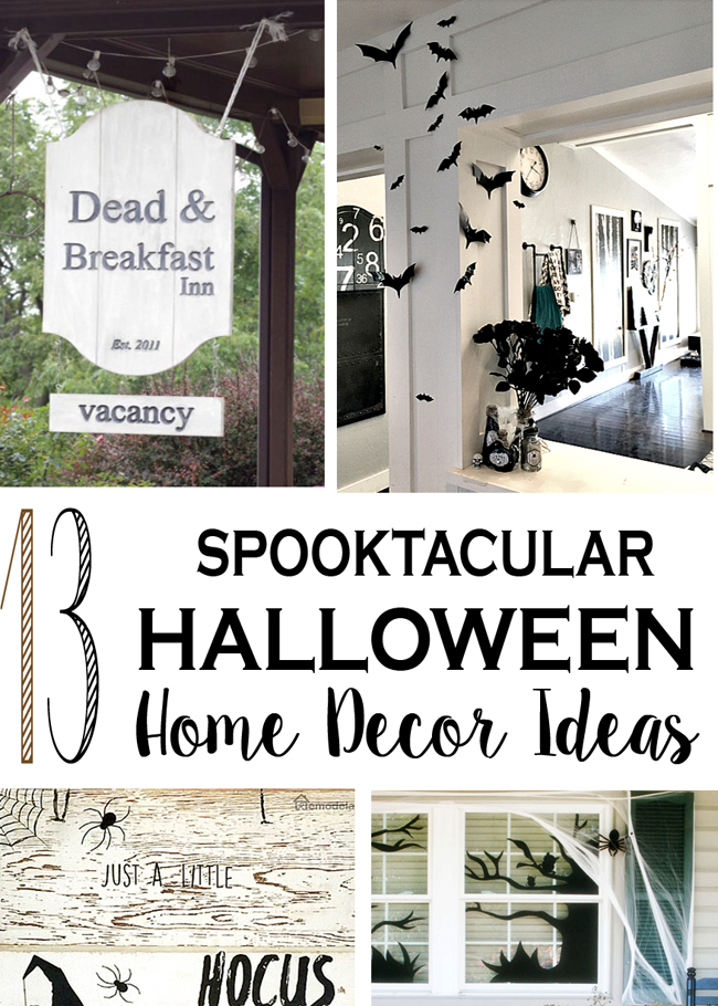 Lots of Spooky Halloween Home decor ideas