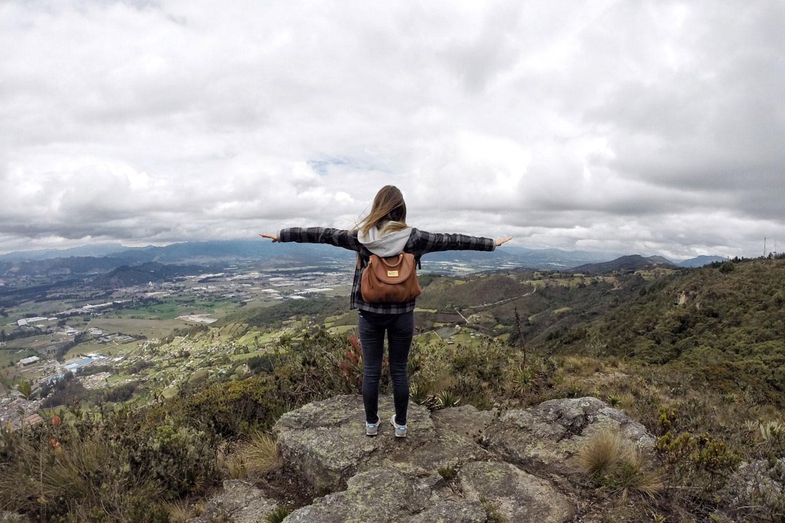En la cima del cerro Pionono
