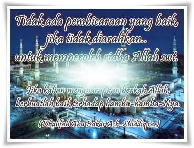 kata hikmah untuk nasehat sahabat Rasulullah SAW.
