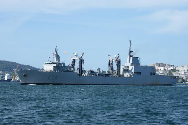 El Buque de Aprovisionamiento en Combate 'Patiño' zarpa para colaborar con la Marina Canadiense
