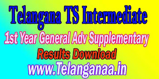 Telangana TS Intermediate 1st Year General Adv Supplementary 2016 Result