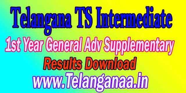 Telangana TS Intermediate 1st Year General Adv Supplementary 2018 Result
