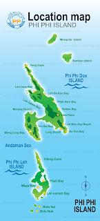 Maya Bay map ( Phi Phi Leh )